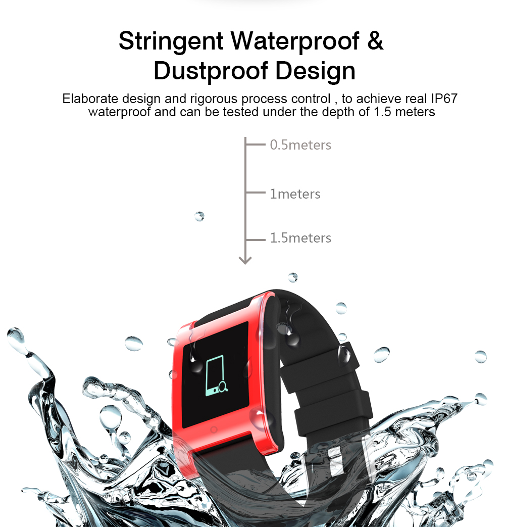 LEMDIOE DM68 waterproof smart band wristband fitness tracker Blood Pressure heart rate monitor Calls Messages watch for phone 4