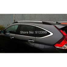 For Honda CRV 2012 2013 2014 Silver Color +Black Roof Rack Rails, Luggage Roof Top Rack