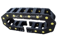 1 meter 25*50 Towline Enhanced Bridge-type Drag Chain with End Connectors for CNC Router Machine Tools