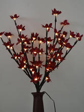 "Battery Type Blossom Forsytia Flower Branch Light 20"" 60 LED Christmas branch light wedding table decoration Spring Decoration"