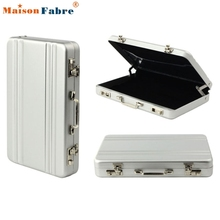 New Fashion Metal Business ID Credit Card Holder Suitcase Business Bank Card Name Card Holder Box Case Organizer Maison Fabre