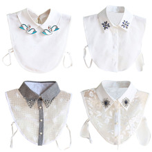 Buy Fashion Detachable Peter Pan Women's Lapel Shirt Fake False Collar Choker Necklace Clothing Accessories Decor for $2.99 in AliExpress store