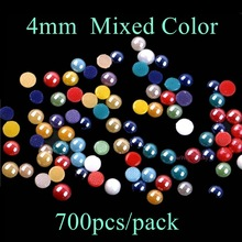 4mm Mixed Color Ceramic Hotfix Rhinestones Round Metallic Gold Rim / NO Gold Rim DIY Hot Fix Rhinestone Strass Stone(China)