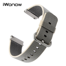 22mm Quick Release Nylon Watchband for Fossil Diesel DZ Timex Armani CK Watch Band Fabric Strap Wrist Bracelet Black Blue Brown