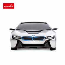 Rastar licensed rc car 1:24 BMW I8 new arrivals radio control remote control vehicle silver color inventory for boys game 48400(China)