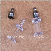 Freeshipping!!  Handcraft Glass Purfume Vial Pendants DIY Jewelry Pendants rice art pendant