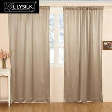 LILYSILK Silk Drapes Curtain Panels 19 Momme Classical Windows Living Room Pole Pocket Header Free shipping