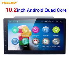 10.2inch Bigger HD Screen Android 4.4.2 Quad Core Car Media Player With GPS Navi Radio For  Universal 2DIN ISO+Rear view camera