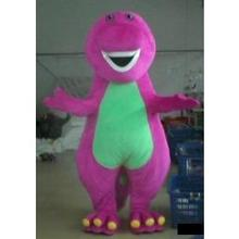 ohlees cheap barney dragon mascot costumes for adult sale halloween party dress free shipping(China)