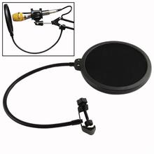Microphone Pop Filter Singing Windscreen Shield Pod Cast Dual Double Layer Mask Anti Mic Metal Studio Pop Filter EN4107
