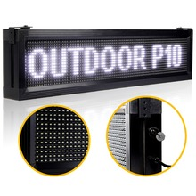White P10 Outdoor LED Sign Board Waterproof LAN Programmable Display Scrolling Advertising Message for your store(China)