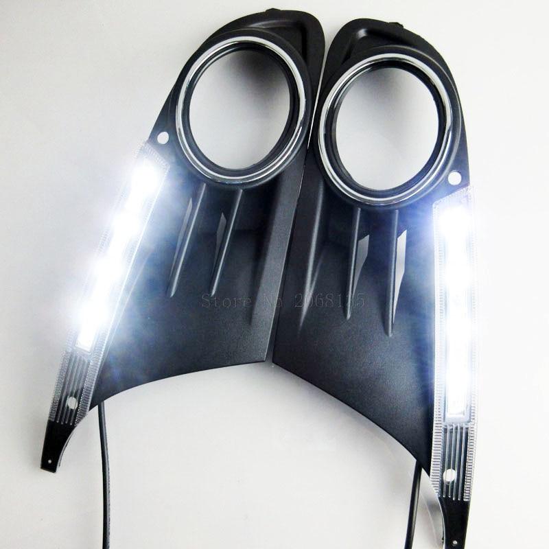 2PCS High quality Led daytime running light fog lamp cover DRL For Volkswagen VW GOLF6 MK6 2010-2012<br>