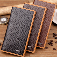 Delicate Long Design Men Wallet Alligator Pattern Synthetic Leather Multi Card Holder Man Wallets Bifolds 3 Colors Male Wallet