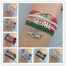 drop shipping hot sale baseball bracelets fashion girl jewelry Bracelet best baseball jewelry bangles cheer for team