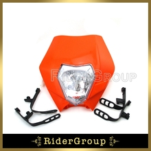 Headlight Head Lamp Fairing For CR CRF XR RM KLX WR DRZ YZ YZF TTR KZ KX KD KDX Dirt Bike