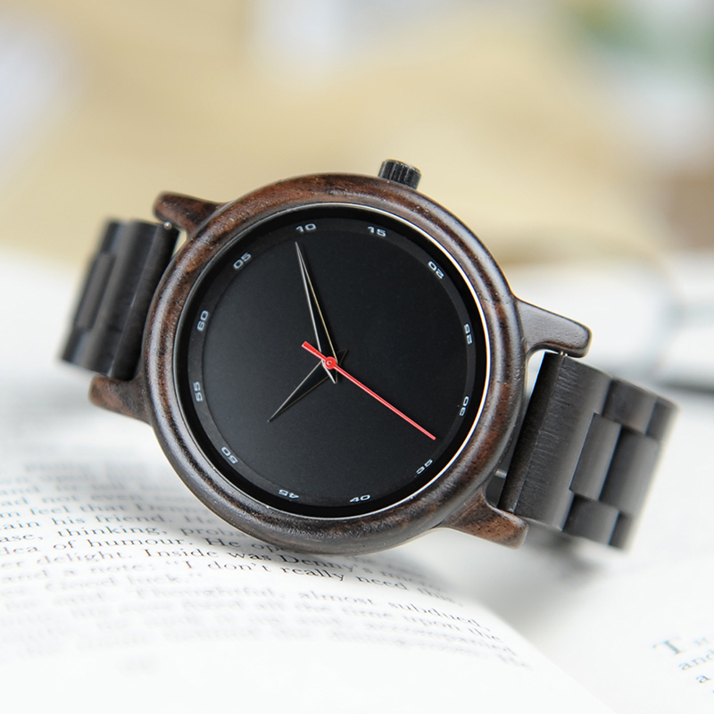 BOBO BIRD Male High Quality wrist Watch Bamboo Wooden Watches Men in gift box custom logo erkek kol saati 5