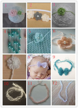 3Pcs/lot Can be mixed color mixed products Crochet Mohair Headband Baby Girl Hair Decoration Newborn Photography Props