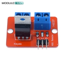 2PCS Top Mosfet Button IRF520 Mosfet Driver Module For Arduino MCU ARM For Raspberry Pi 3.3v-5V IRF520 Power MOS PWM Dimming LED