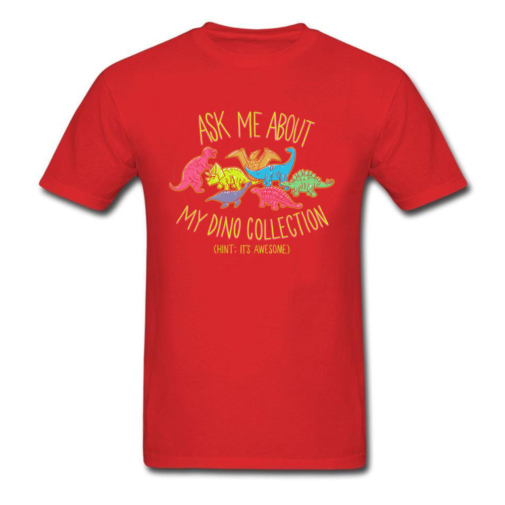 Normal dino collection 5493 Men T Shirt Newest Autumn Short Sleeve Crewneck 100% Cotton Tops & Tees Normal Tee-Shirt dino collection 5493 red
