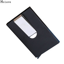 Buy New Fashion Stainless Steel Card Holder Credit Card Wallet Men Business Rfid Metal Travel Wallet Men Credit ID Card Holder SE052 for $3.83 in AliExpress store