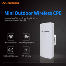 New! Comfast 300Mbps mini outdoor wireless cpe with 11dbi Antena wi-fi wireless router long range CPE 2.4G or 5G network bridge(China)