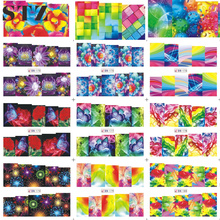 STZ 1 Sheets New 2017 Colorful Dream Beauty 3d Designs Nail Sticker Decals for DIY Full Cover Patch Watermark Tips BN169-180