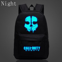 2017 Call Of Duty Bags Ghost Casual Daily Backpack Luminous Mochilas School Bag Kids Teenager Backpack Anime Bag Travel Bag(China)