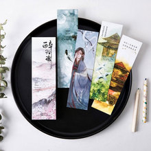 30 pcs/box vintage Chinese classic beauty female watercolor paper bookmarks stationery zakka school supplie papelaria kids gifts