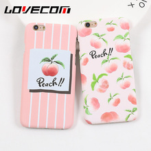 LOVECOM Cartoon Delicious Fruit Case For iphone 5S 5 SE 6 6S Plus 7 7Plus Cute Juicy Peach Hard PC Phone Cases Back Cover Coque(China)