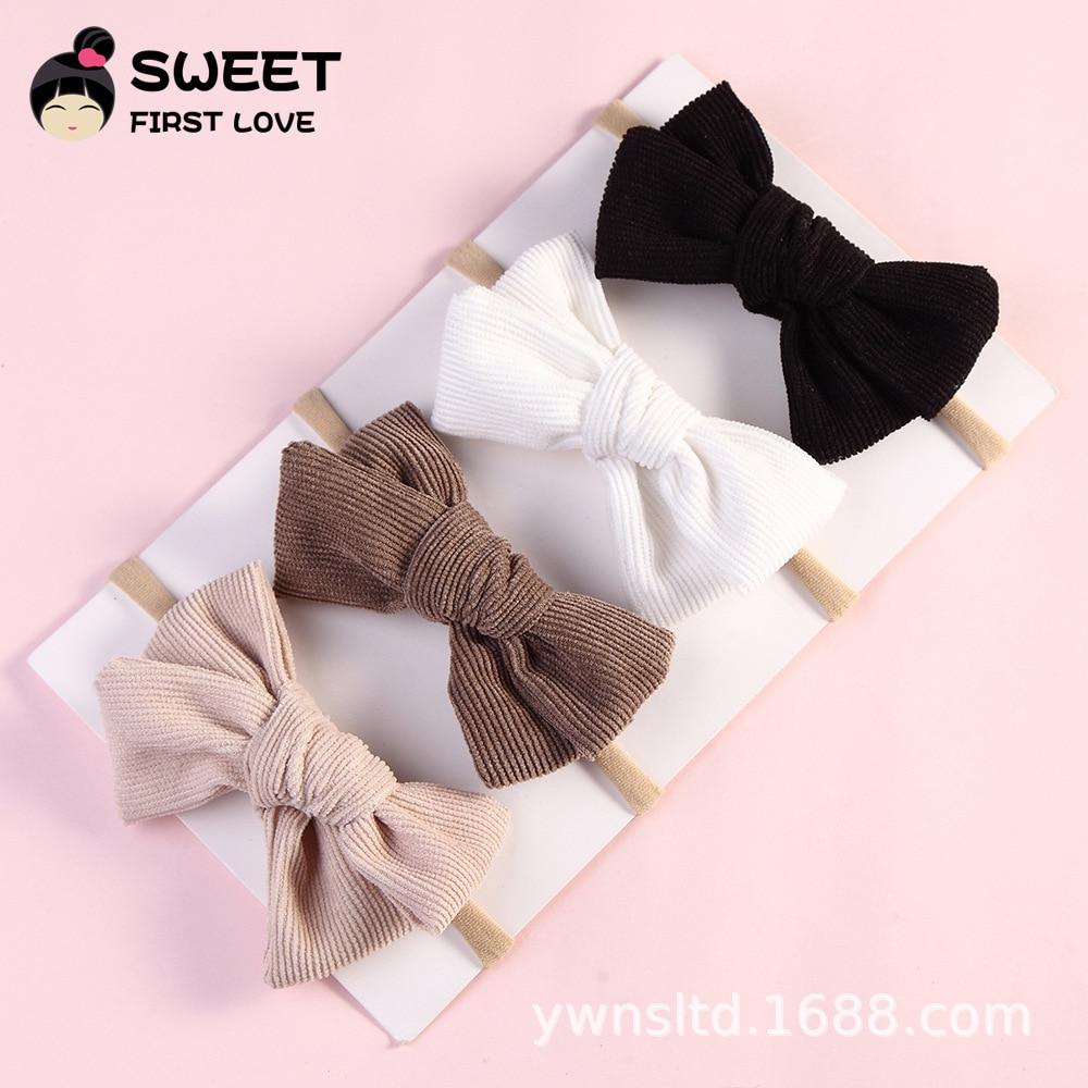stirnband bogen turban elastischen gummiband headwrap bowknot baby