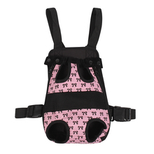 Fashion Cat Dog Travel Front Carrier Bag Backpack Mesh Pet Carrier For Small Dog Pink Blue For Weight 1.5kg-9.5kg(China)