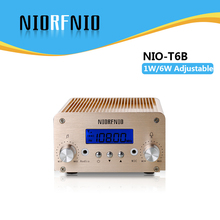 Free Shipping NIO-T6B 1W/6W PC Control Wireless FM Audio Broadcasting Transmitter 76MHz to 108MHz Adjustable(China)