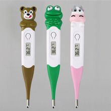 Cute Cartoon Animals Thermometer  Diagnostic-tool Frog / Bear/Cow Digital Monitor Oxter & Mouth For Baby Children