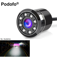 Podofo Waterproof Car Backup Camera HD Color CCD Rear View Camera 8 LED Night Vision 170 Degree Parking System (No Guide Line)(China)