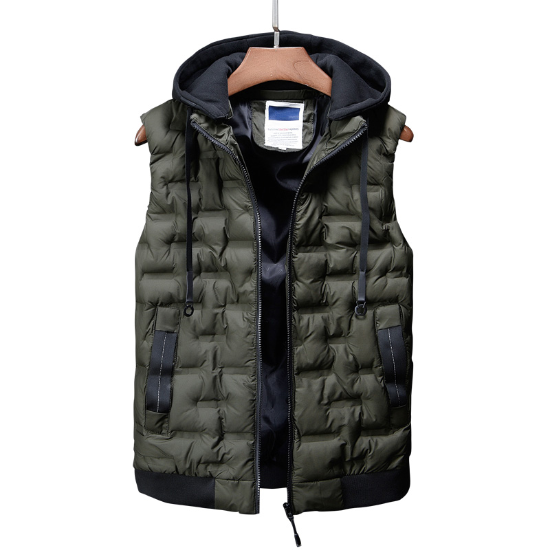 Vest Men New  2018 Autumn Winter Warm Sleeveless Jacket Army Waistcoat Men's Vest Fashion Casual Coats  Mens Thick vest Jacket