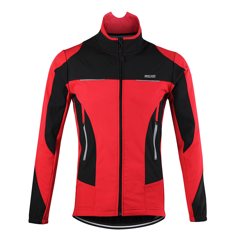 ARSUXEO 2017 Thermal Cycling Jacket Winter Warm Up Bicycle Clothing Windproof Waterproof Sports Coat MTB Bike Jersey<br><br>Aliexpress