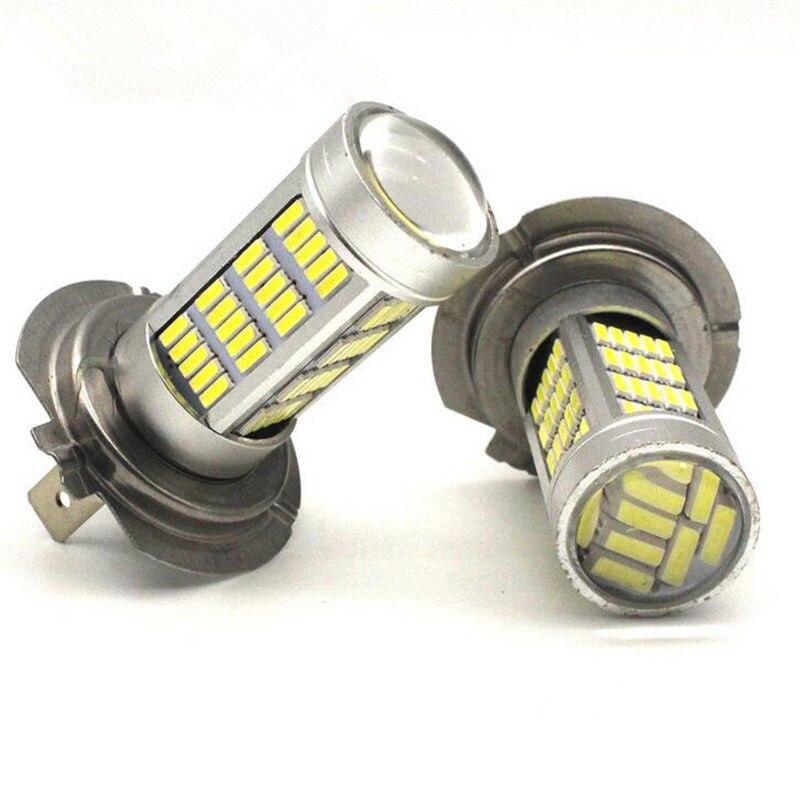 2PCS H7 4014 92SMD LED Fog Lights LED Bulbs Lamp White 100W Bright Than 33 SMD Light<br><br>Aliexpress