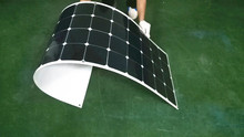 4PCS semi flexible solar panels 100w 12v with cable on back side and passby diode inside the junction box(China)