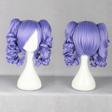MCOSER Hot sell !!! Popular  Lolita  zipper  New Fashion Medium purple Cosplay Wig With Ponytail