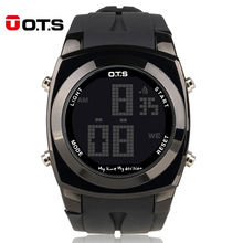 Brand OTS Original Creative Large Number Style Men Relojes Sport Waterproof Alarm LED Digital Fashion Watches Relogio Masculino