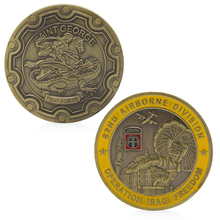 OOTDTY Collectible Coin 1914-1945 Cross World War 1 2 Gold Plated Commemorative Challenge Coin Souvenir(China)