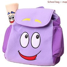 Dora Explorer Backpack Rescue Bag with Map,Pre-Kindergarten Toys Purple(China)