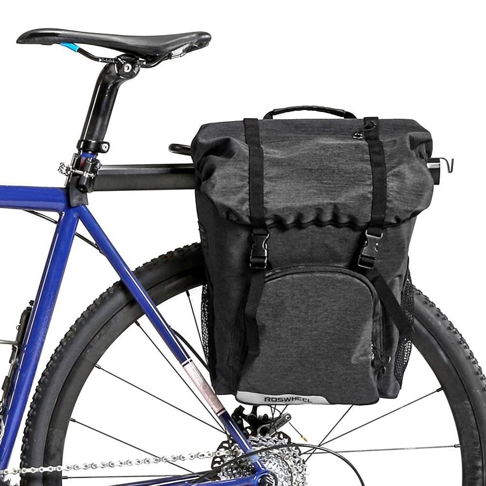 PJ Bicycle Cycling Bike 3 in 1 Water-Resistant Pannier Bag Rear Pack ShoulderBag