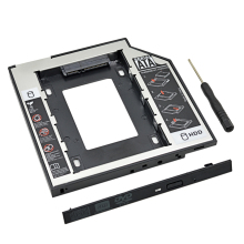 "Plastic Aluminum Universal Optibay 2nd HDD Caddy 9.5mm SATA3.0 2.5"" SSD CD DVD to HDD Case Enclosure CD-ROM ODD"