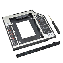 "Plastic Aluminum Universal Optibay 2nd HDD Caddy 9.5mm SATA3.0 2.5"" SSD CD DVD to HDD Case Enclosure CD-ROM ODD(China)"