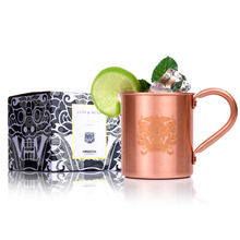 Homestia Brand 16oz Moscow Copper Mule Mugs Copper Beer Cup Pure Copper Coffee Milk Mug Rose Gold With Handle Package Box Gift