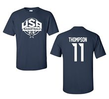 2017 New Brand O Neck T shirt Western Style USA Men's Basketballer Team Thompson Men's T-Shirt Youth & Adult sizes Tee