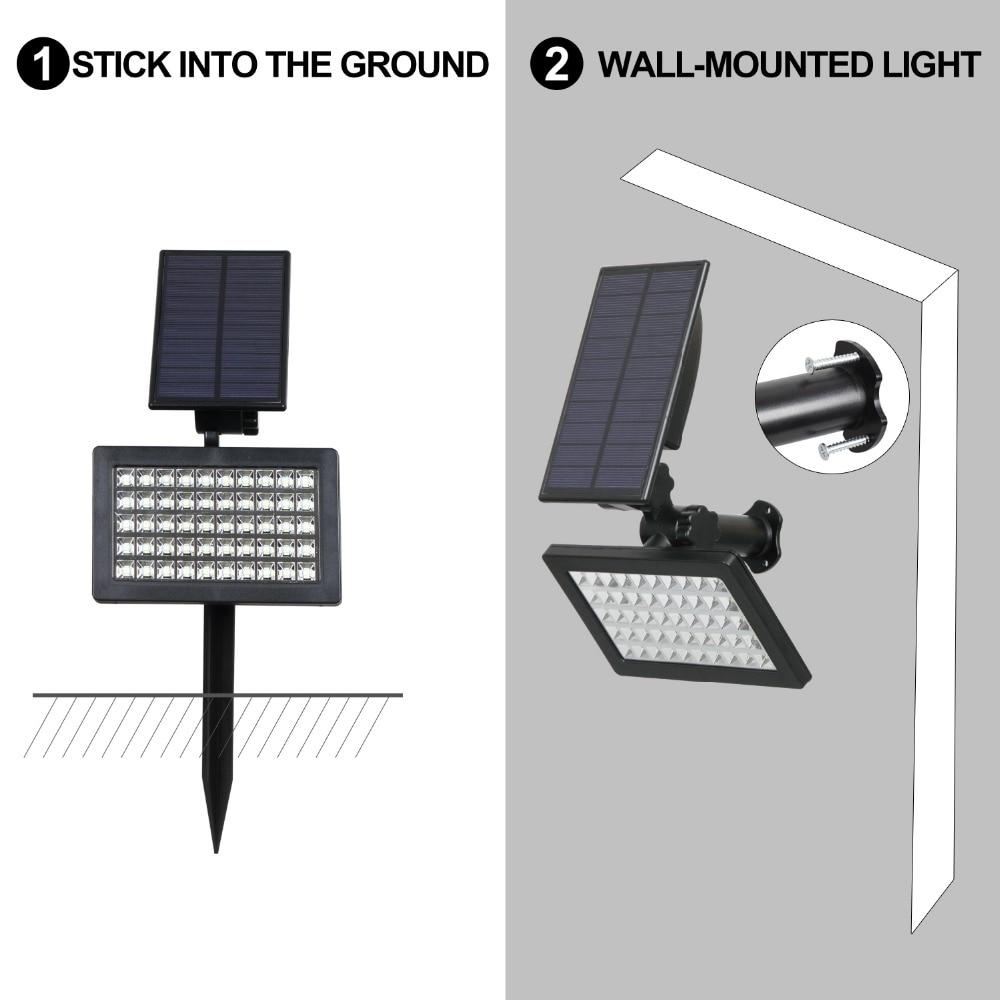 T-SUNRISE 50 LEDs Solar Light Outdoor LED Solar Powered Garden Lights IP44 Waterproof Lawn Lamp Landscape Spot Lights 9