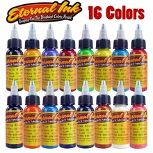 Wholesale-New Arrival 30ML / Bottle 16 Colors Long Lasting Tattoo Ink Fast Pigment Kit Tattoo Inks Set Art Tools High Quality