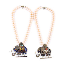 Beaded Multilayer Chain Necklace Resin Well Suited Enamel Ethnic Maxi Cute Elephant Pendants Necklaces Trendy Jewelry